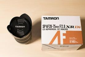 Tamron 28 - 75 mm f 2.8 lens (Nikon Fit) for sale