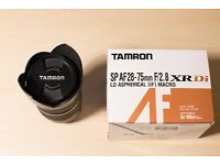 Tamron 28 - 75 mm f 2.8 lens (Nikon Fit) for sale