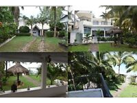 Holiday House on the Beach in Blue Bay, Mauritius for 8 ppl.