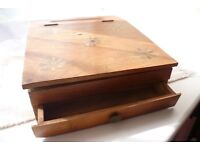 Indian solid rosewood stationary box with brass inlay