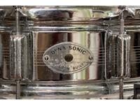 Vintage 1965 English Rogers Dynasonic COB snare