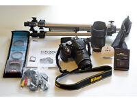 Nikon D5200 (24.1MP), 2 Lenses & accessories. Complete package. Good condition.
