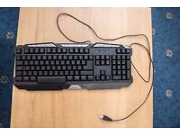 Sumvision LED 3 Colour Backlit USB Keyboard