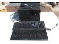 2 x Lenovo Thinkcentre workstation pc with keyboards for spares or repairs