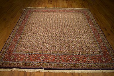 Handmade 7x7 Square Persian Room Decor Rug Fine Quality Moud Rugs Clearance