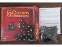 Triominos board game, complete