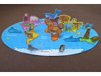 World Animals jigsaw puzzle, complete