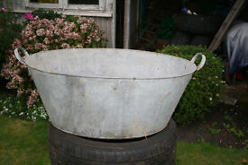 old galavanised bath