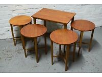 McIntosh teak nest of tables (DELIVERY AVAILABLE)