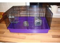 Hamster Cage Ex. Cond With Wheel,Bowl and Bed