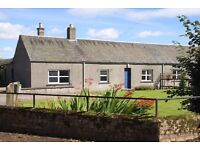 Unfurnished semi-detached 2 bedroom cottage, in row beside Farm, approx 1 mile from Balbeggie.