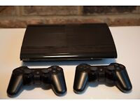 Sony Playstation 3 / PS3 Super Slim 500 GB + 2 controllers + 16 games