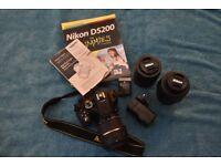 Nikon D5200 DSLR camera with lens