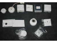 Electric fittings, sockets, switches new and used £15