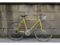 Classic Yellow Puch racing vintage men's bicycle.