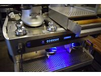 Promac BRAVURA commercial 2 group coffee machine + Grinder