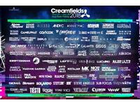 Creamfields 3 day bronze camping ticket: £200 ONO