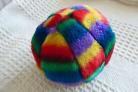 NEW Brightly Coloured Soft Squeaky Ball Dog Toy, Histon