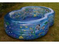 Transparent Blue Paddling Pool