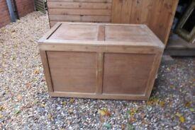 Large Hardwood Trunk / Chest