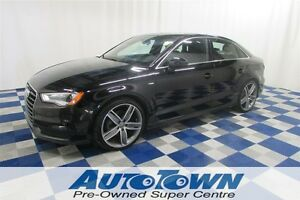 2015 Audi A3 2.0T S-LINE/ QUATTRO/SUNROOF/HEATED SEATS