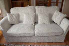 Lanesborough Floral Beige Fabric 3 Seater Sofa