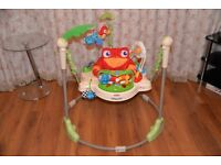 Fisher price jumperoo rainforest bouncer baby toy activity jumping in very good and clean condition.