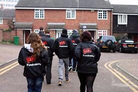 Fundraising Door to Door - £252-306 basic p/w plus uncapped bonuses