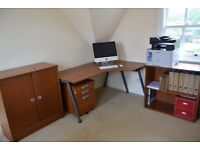 Home office furniture desk, drawers, cabinet and bookcase £70 ONO!! Must go!