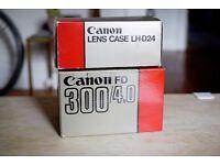 Canon FD 300mm f4 MF Telephoto Prime Lens, Mint!