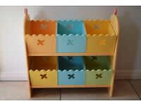 Vertbaudet Cupcake Wooden Shelving Unit with Boxes