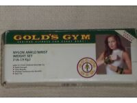 Set of Gold's Gym Ankle / Wrist 2lb Weights ( 1lb each weight ), Histon