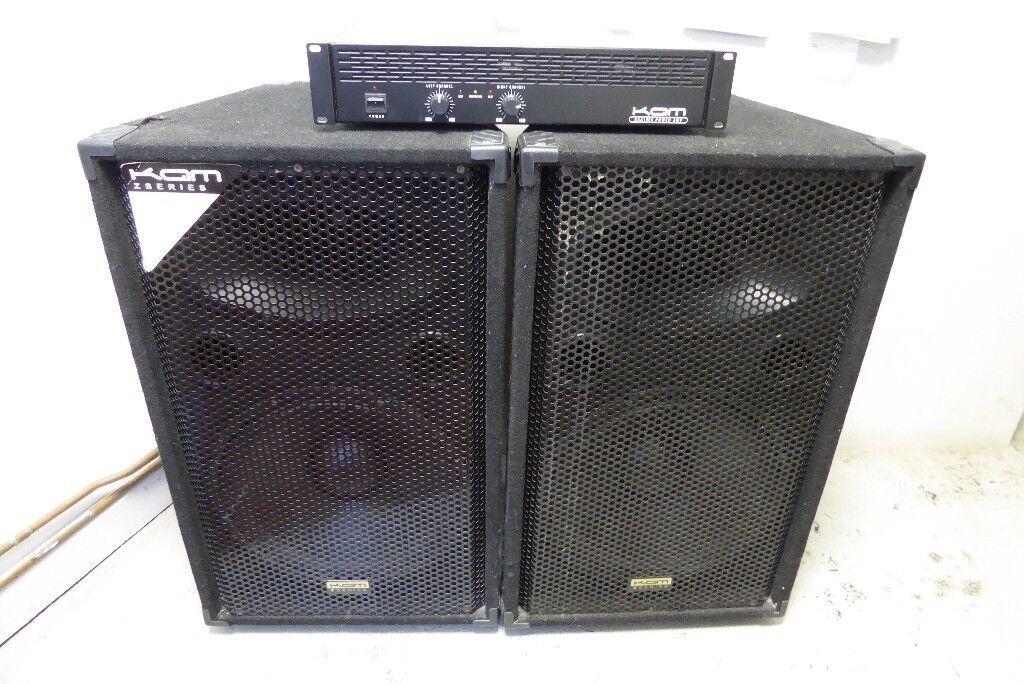 Kam Z Series 500W Speakers + Kam KCA1200 Power Amp 1501751