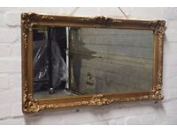 Rectangular Gilt wall mirror (DELIVERY AVAILABLE)