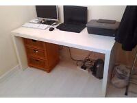 Ikea office desk, white, large, used