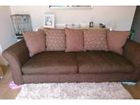 Dfs Brown 4 Seater Pillow Back Sofa, DELIVERY AVAILABLE