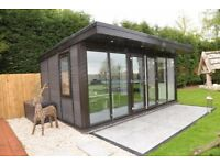 Contemporary Garden Office / Studio. Heavily insulated for all year round use never needs painting.