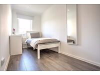 light and large double room in newly refurbished apartment! Can't view? Arrange a Skype chat!