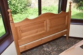 Pine King Size Bed Headboard - Excellent Condition