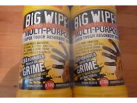 BIG WIPES 5x2 packs (10 tubs of 100 wipes)