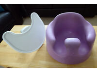Good condition lilac Bumbo baby seat with detachable tray