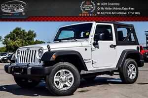 2016 Jeep Wrangler New Car Sport|4x4|Soft Top|Temp Compass Gauge