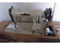 Vintage Cool Aston Supreme Sewing Machine like Singer Electric Foot Pedal operated