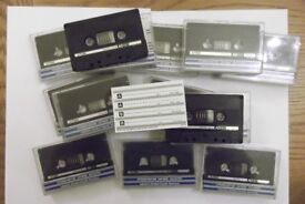 80 TDK AD C90 silver/green Superferric cassettes - recorded once, now blank & ready to record