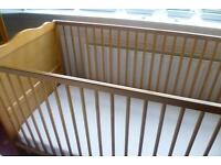 Cot in very good condition only used very occationally at Grandmas home Wooden unmarked
