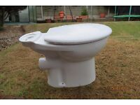 toilet bowl close couple including toilet seat and lid