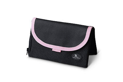 Running Buddy Pouch Black with Pink Trim - held in place with magnets, no belt.