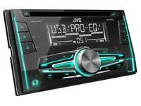 JVC double din car stereo. Car radio. Radio. Stereo.