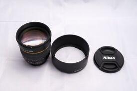 Samyang 85mm f/1.4 Nikon