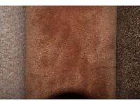 100% Polypropylene Carpet Thick Saxony Rusty Brown 3.1m x 4m (138)